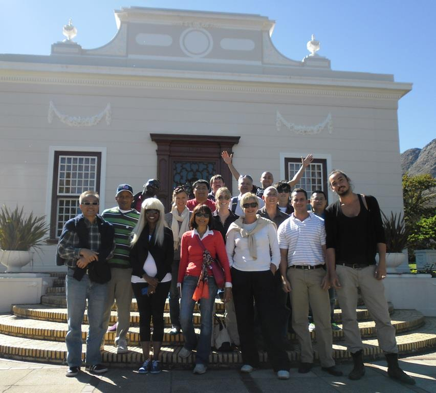 A group of Tourist Guide students in Stellenbosch