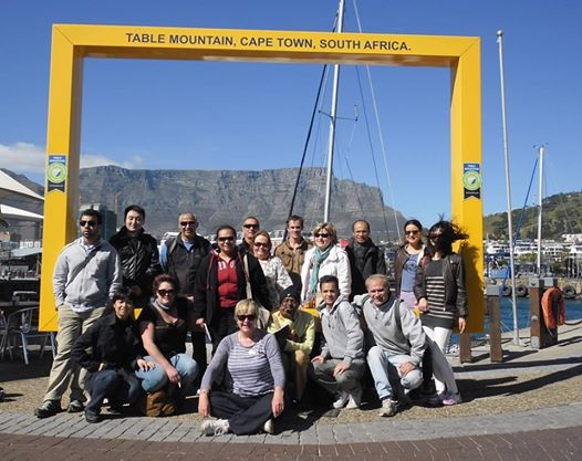 Cape Town Tour Guide Students at the V+A Waterfront