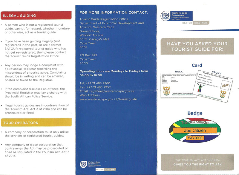 Accredited Tourist Guide Brochure